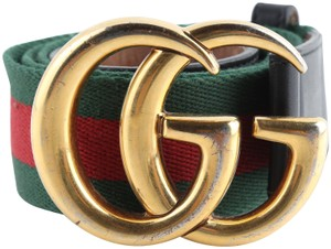 Gucci Gucci Nylon Web Double G Belt
