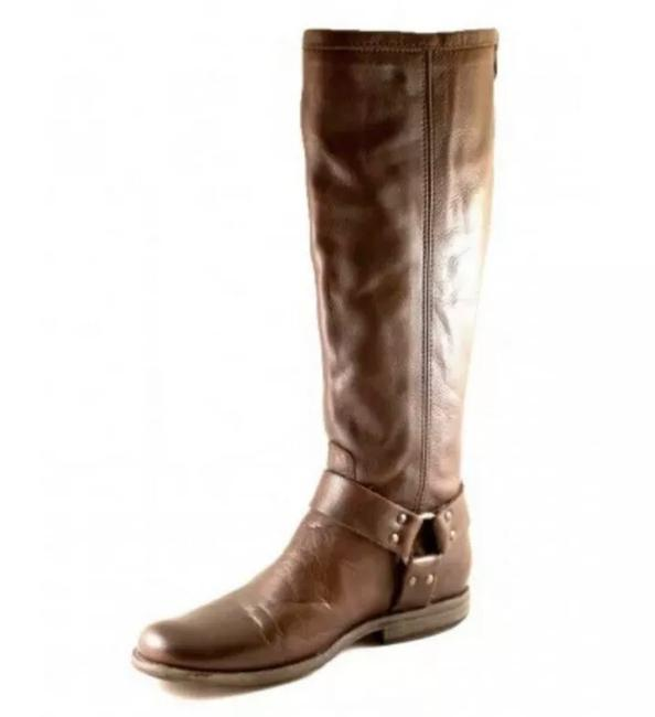 Frye Brown New 76850 Phillip Harness Womens B Tall Harness Extended Calf Boots/Booties Size US 6 Regular (M, B) Frye Brown New 76850 Phillip Harness Womens B Tall Harness Extended Calf Boots/Booties Size US 6 Regular (M, B) Image 1