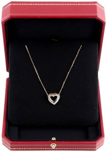 Cartier Cartier 18K Three Tone Gold Trinity Heart Diamond Pendant Necklace