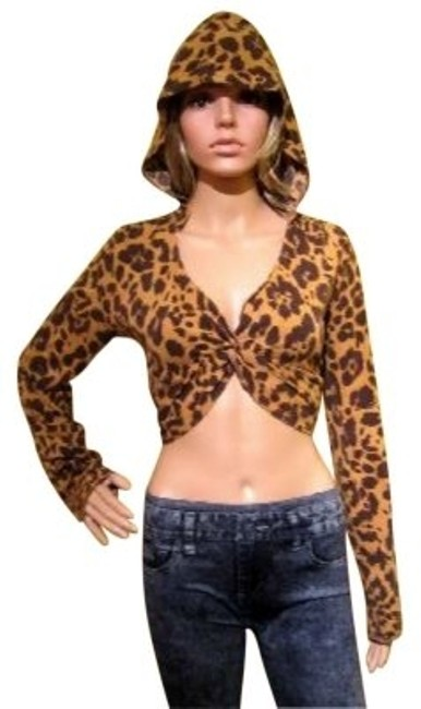 Preload https://item5.tradesy.com/images/express-leopard-hooded-cropped-blouse-cardigan-size-14-l-26209-0-0.jpg?width=400&height=650