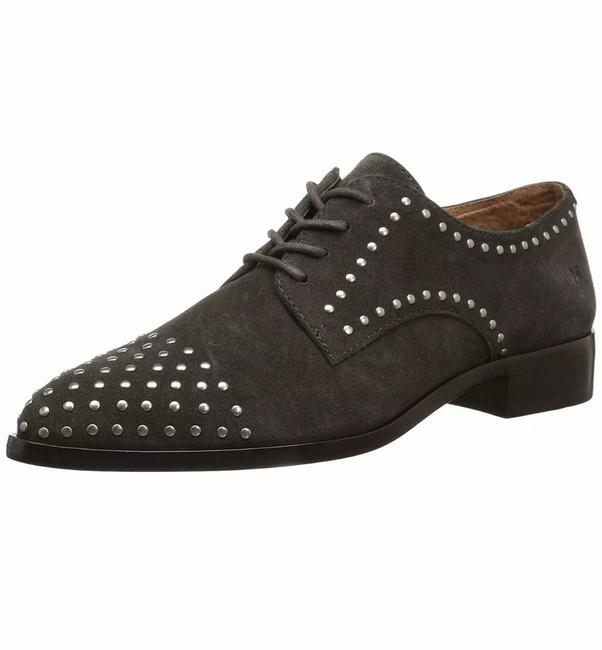 Frye Gray Women's Erica Stud Oxford Flats Size US 7.5 Regular (M, B) Frye Gray Women's Erica Stud Oxford Flats Size US 7.5 Regular (M, B) Image 1