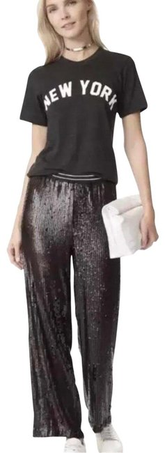 Item - Black XS Just A Dreamer Sequin Crop Trousers Rose Gold (0-2) Pants Size 0 (XS, 25)
