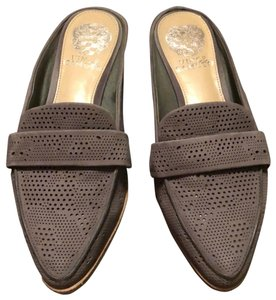 Vince Camuto charcoal grey Mules