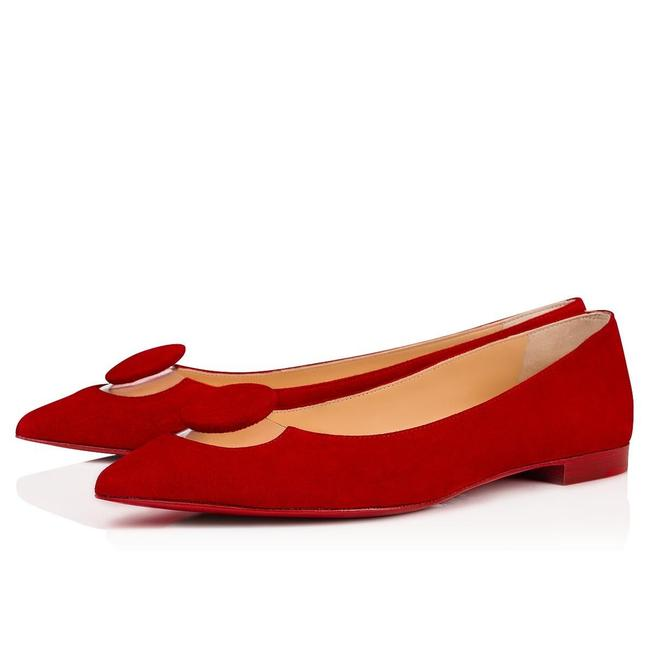 Item - Red Moon Pvc Loubi Suede Veau Clear Pointed Toe Ballerina Ballet Flats Size EU 36 (Approx. US 6) Regular (M, B)
