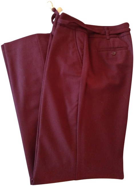 """Item - Burgundy New Lined Italian Wool """"Heritage"""" Fit Pants Size 10 (M, 31)"""