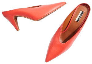 Topshop Orange Mules