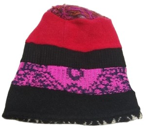 Sharon Reversible Boho Hippie Slouchy Baggy Patchwork Beanie Multi-color