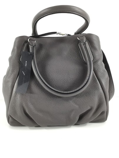 Marc Jacobs Mj Black Italian Leather Purse Tote in FADED ALUMINUM GREY/SILVER Image 1