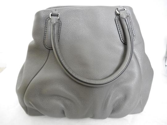 Marc Jacobs Mj Black Italian Leather Purse Tote in FADED ALUMINUM GREY/SILVER Image 2