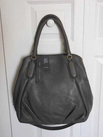 Marc Jacobs Mj Black Italian Leather Purse Tote in FADED ALUMINUM GREY/SILVER Image 3