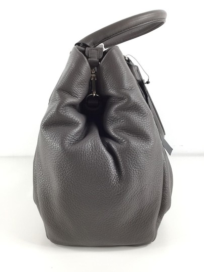 Marc Jacobs Mj Black Italian Leather Purse Tote in FADED ALUMINUM GREY/SILVER Image 5