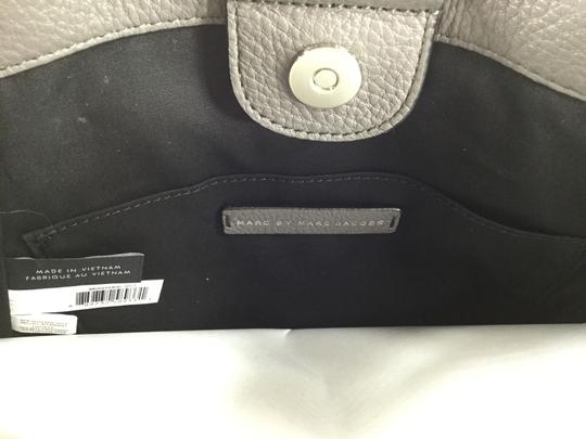 Marc Jacobs Mj Black Italian Leather Purse Tote in FADED ALUMINUM GREY/SILVER Image 9