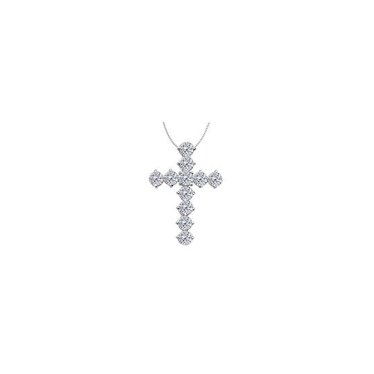 Preload https://img-static.tradesy.com/item/26210375/white-14k-gold-cross-of-religious-with-cz-total-gem-weight-necklace-0-0-540-540.jpg