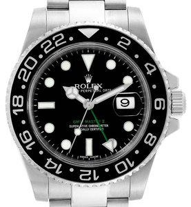 Rolex Rolex GMT Master II 40mm Green Hand Mens Watch 116710 Box Card