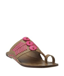 Tory Burch Pinkxbrownx Leather pink Sandals