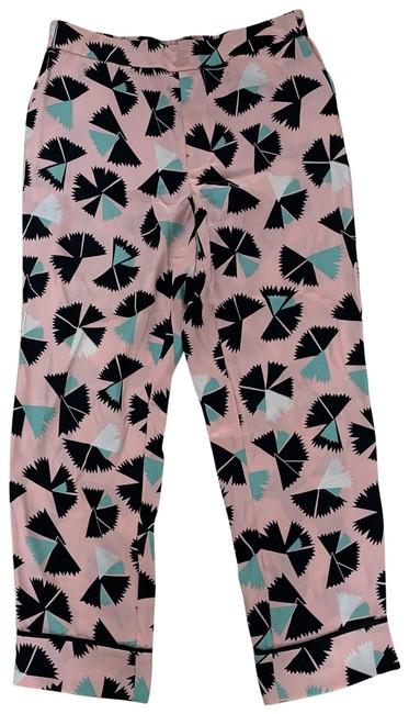 Marc by Marc Jacobs Pink Black Blue Silk Nwot Designer Pants Size 4 (S, 27) Marc by Marc Jacobs Pink Black Blue Silk Nwot Designer Pants Size 4 (S, 27) Image 1