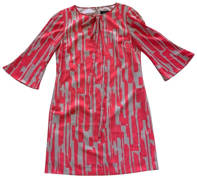 Item - Pink and Cream Nwot Bell Sleeve Polyester Mid-length Cocktail Dress Size 6 (S)