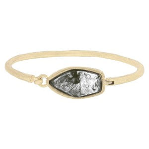 The Sak Metal The Sak Holiday Shine Center Stone Hinged Bangle Womens