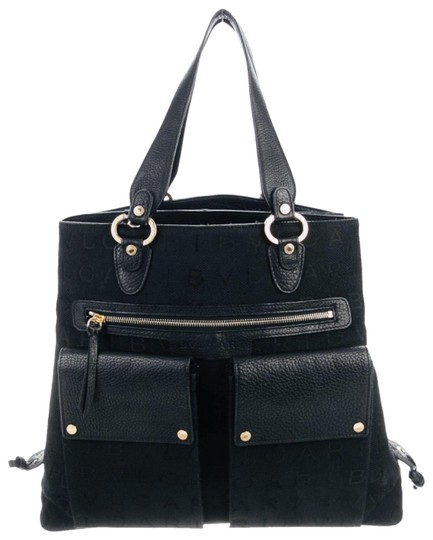 Preload https://img-static.tradesy.com/item/26212744/bvlgari-leather-trimmed-canvas-satchel-0-1-540-540.jpg