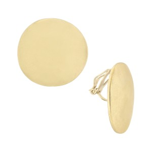 The Sak Hammered Metal Large Circle Clip Womens Round Earrings