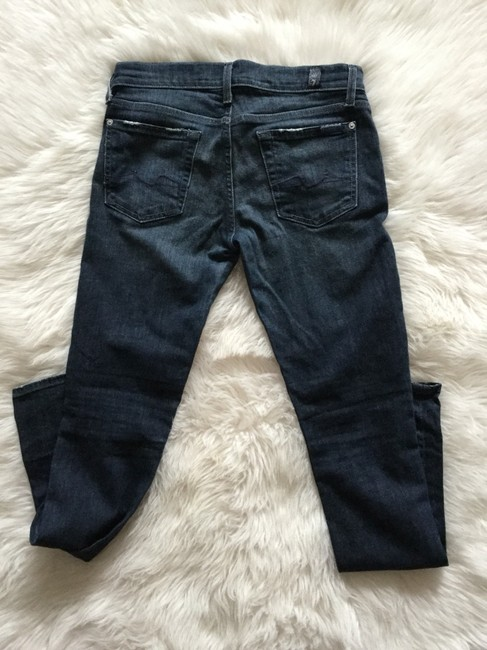 7 For All Mankind Blue Distressed Roxanne Skinny Jeans Size 0 (XS, 25) 7 For All Mankind Blue Distressed Roxanne Skinny Jeans Size 0 (XS, 25) Image 2