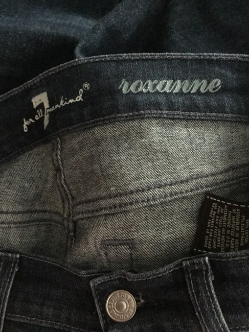 7 For All Mankind Blue Distressed Roxanne Skinny Jeans Size 0 (XS, 25) 7 For All Mankind Blue Distressed Roxanne Skinny Jeans Size 0 (XS, 25) Image 6