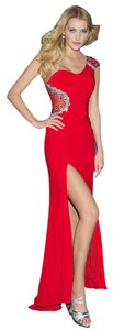 Night Moves Prom Collection Homecoming Long One Shoulder Dress
