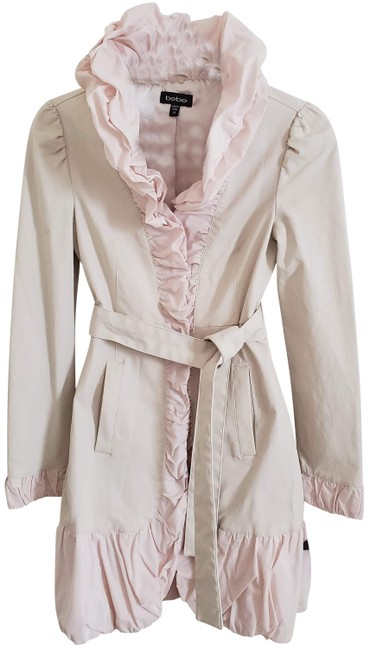 Item - Light Pink XS Ruffle Raincoat Jacket Dress Coat Size 2 (XS)