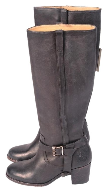 Frye Black Malorie Knotted Tall Riding Boots/Booties Size US 6 Regular (M, B) Frye Black Malorie Knotted Tall Riding Boots/Booties Size US 6 Regular (M, B) Image 1