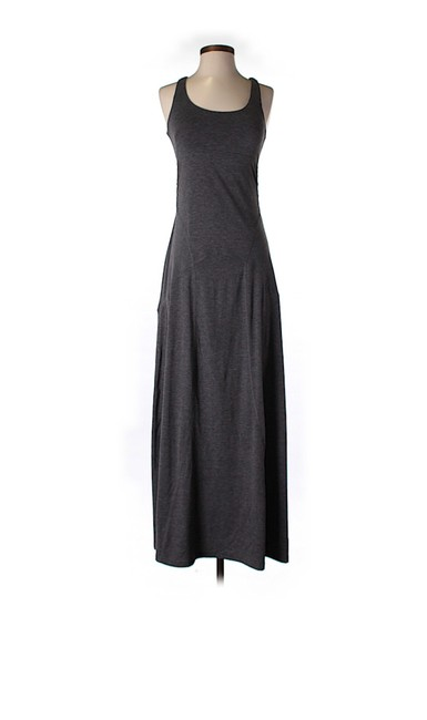 Item - Grey With Crossed Back Long Casual Maxi Dress Size 0 (XS)