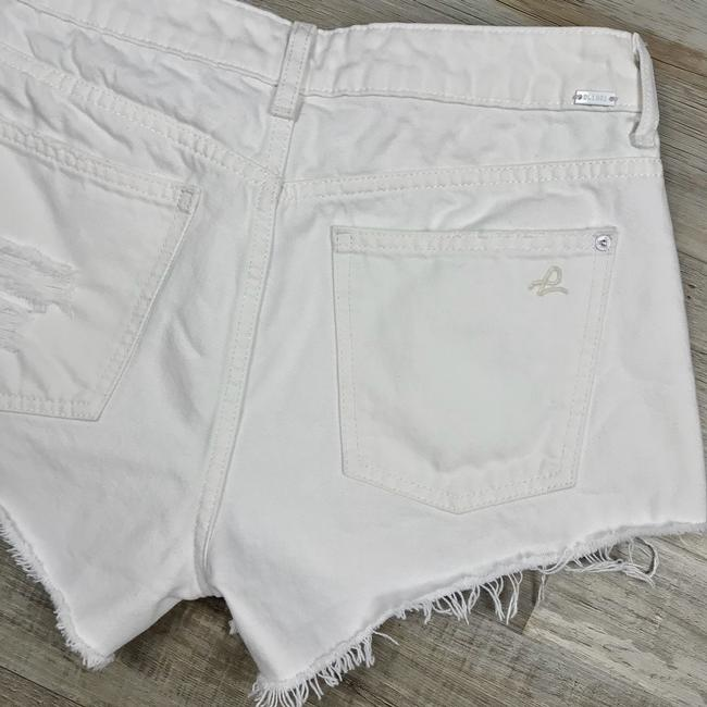 DL1961 High Rise Distressed Frayed Denim Cut Off Shorts White Image 8