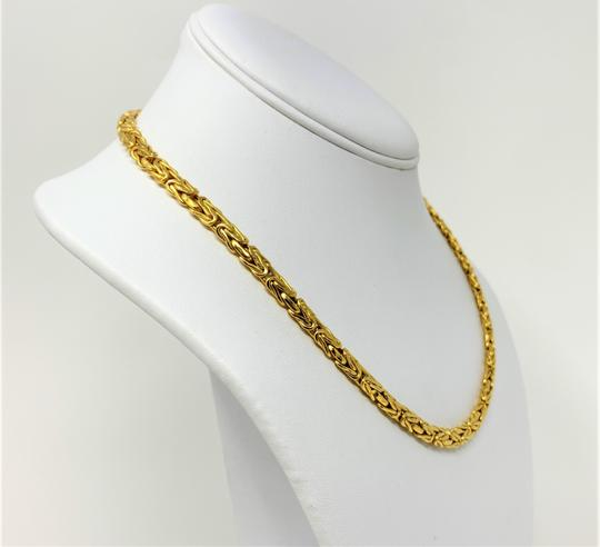Other 14k Yellow Gold 5.5mm Byzantine Link Heavy 21.5g Chain Necklace Italy Image 1