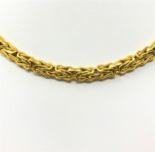 Other 14k Yellow Gold 5.5mm Byzantine Link Heavy 21.5g Chain Necklace Italy Image 2