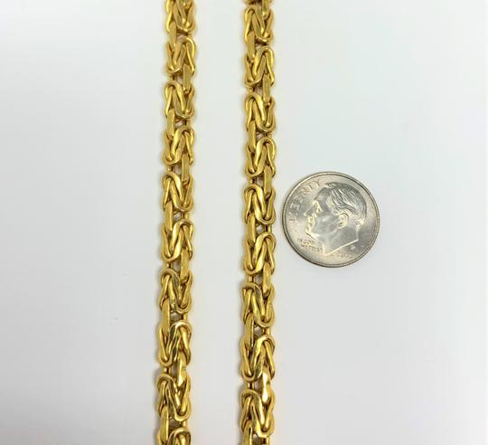 Other 14k Yellow Gold 5.5mm Byzantine Link Heavy 21.5g Chain Necklace Italy Image 3