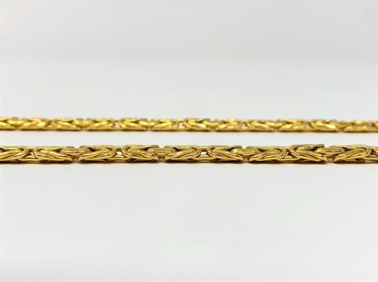 Other 14k Yellow Gold 5.5mm Byzantine Link Heavy 21.5g Chain Necklace Italy Image 4
