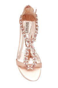 Badgley Mischka Rose Gold Sandals