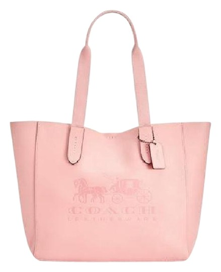 Preload https://img-static.tradesy.com/item/26214180/coach-grove-horse-and-carriage-signature-pebbled-black-peonypink-leather-tote-0-1-540-540.jpg