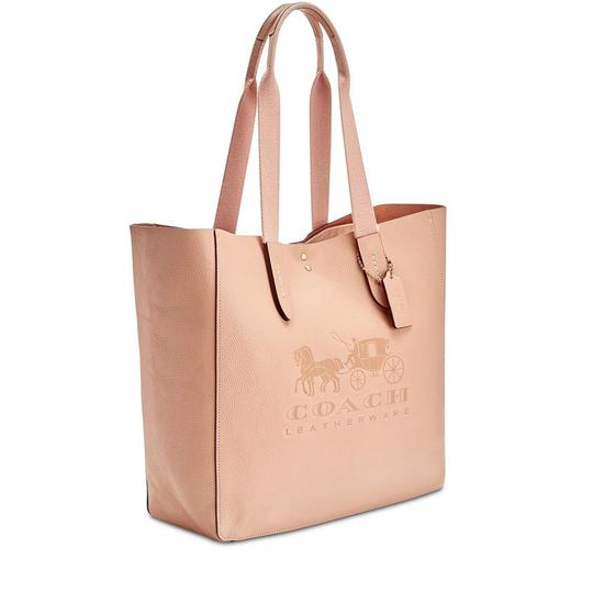 Coach Embossed Horse Carriage Tote in Peony/Pink Image 1
