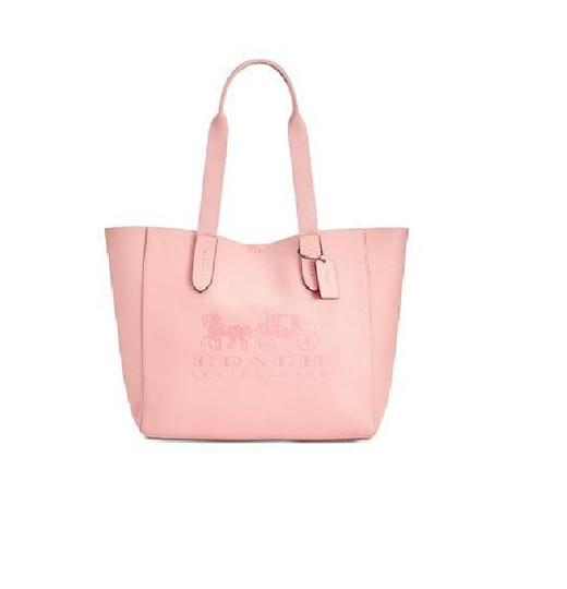 Coach Embossed Horse Carriage Tote in Peony/Pink Image 2
