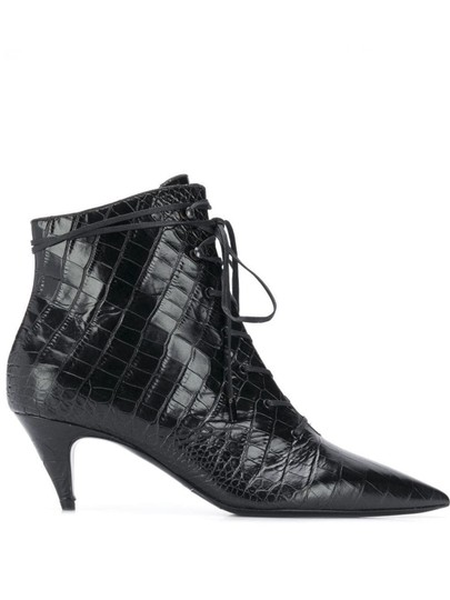 Preload https://img-static.tradesy.com/item/26214187/saint-laurent-black-kiki-lace-up-crocodile-embossed-leather-bootsbooties-size-eu-37-approx-us-7-regu-0-0-540-540.jpg