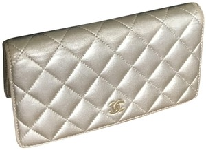 Chanel Quilted Metallic Logo