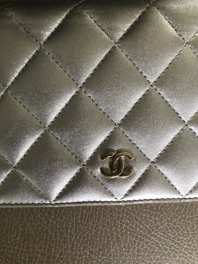 Chanel Quilted Metallic Logo Image 2