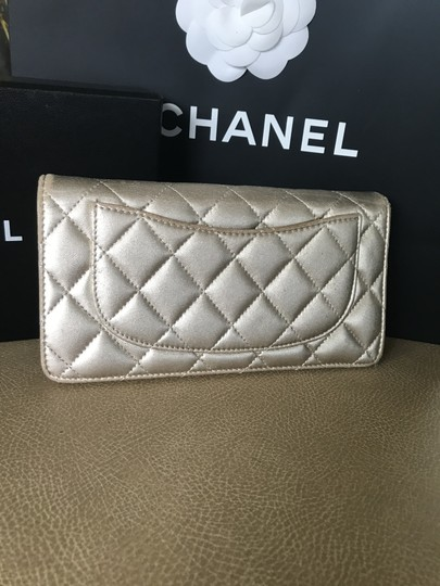 Chanel Quilted Metallic Logo Image 5