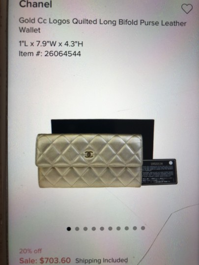 Chanel Quilted Metallic Logo Image 7