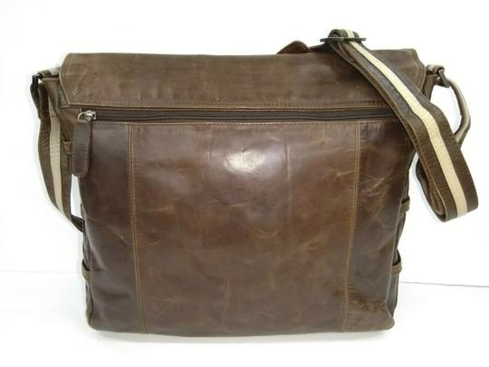 Baccini Brown Messenger Bag Image 3