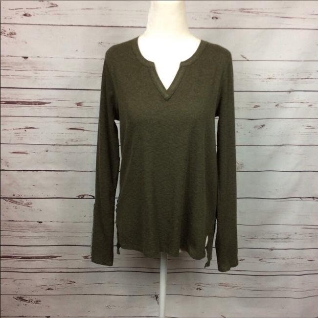 Anthropologie T Shirt Army Green Image 1