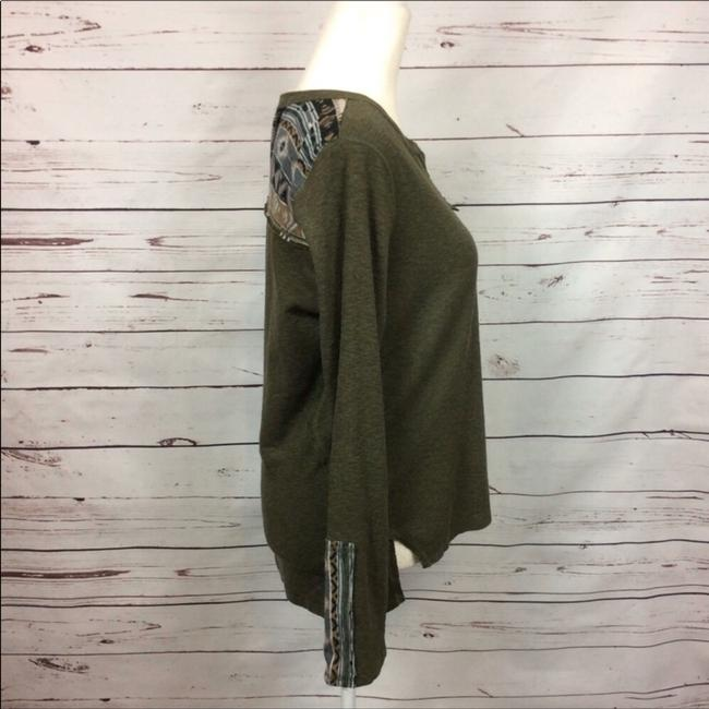 Anthropologie T Shirt Army Green Image 2