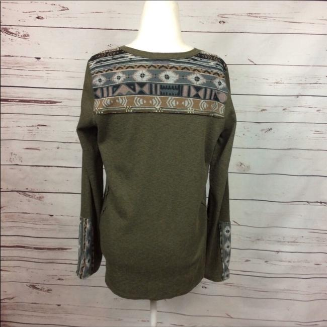Anthropologie T Shirt Army Green Image 3
