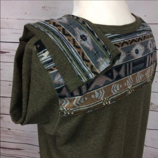 Anthropologie T Shirt Army Green Image 4