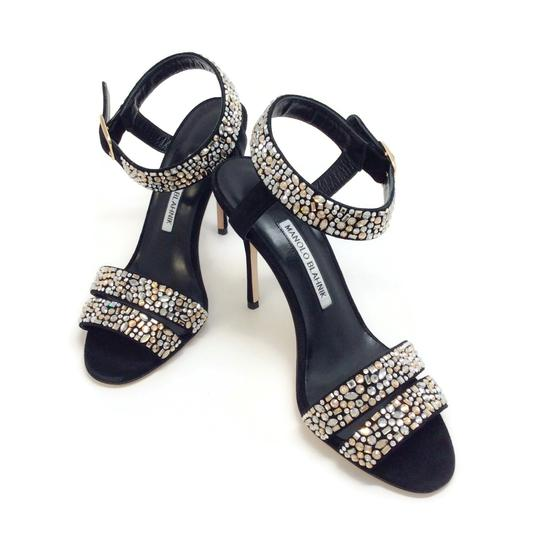 Manolo Blahnik Black With Crystals Sandals Image 5
